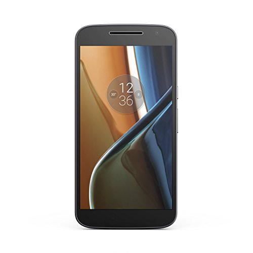 Moto G (4th Generation) Unlocked Phone, 16 GB, Prime Exclusive - with Lockscreen Offers & Ads (Black)