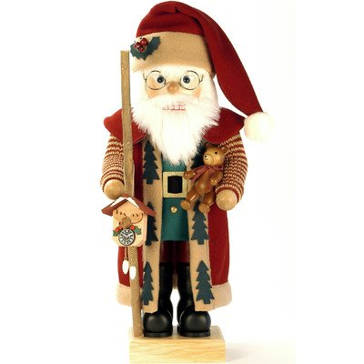 0-461 - Christian Ulbricht Nutcracker - Santa with Clock - Ltd Edition 1000 pcs - 18.25''''H x 8''''W x 9''''D by Christian Ulbricht