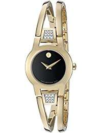 Womens Swiss Quartz Gold Plated Casual Watch (Model: 0606895)