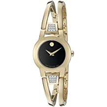 Movado Women's Swiss Quartz Gold Plated Casual Watch (Model: 0606895)