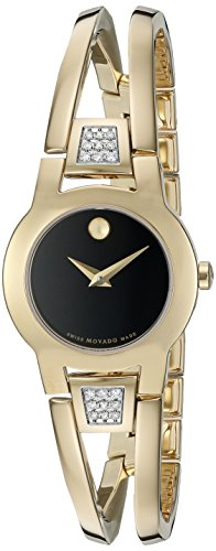 - Movado Women's Swiss Quartz Gold Plated Casual Watch (Model: 0606895)