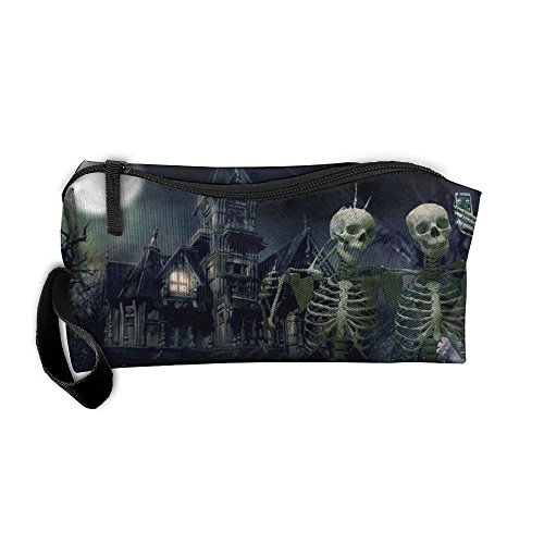 Spooky Halloween 1 Toiletry Bag Multifunction Cosmetic Bag Portable Makeup Pouch Travel Hanging Organizer -