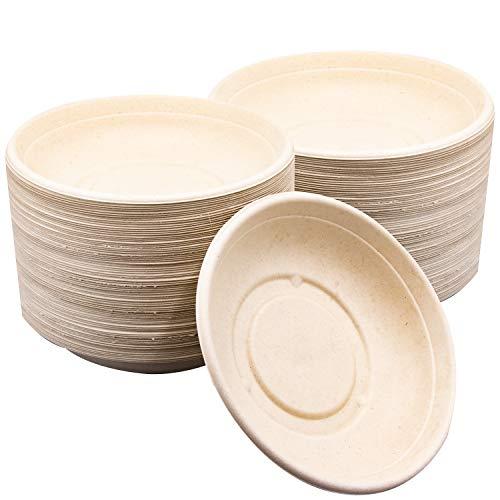 - 75 Pk Disposable 24 oz Eco Friendly Bowls Biodegradable Compostable Paper Bowl Alternative
