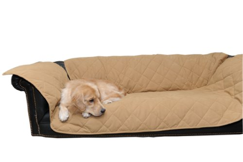 CPC Diamond Quilted Couch Protector for Dogs and Cats, 72 x 27 x 34-Inch, Caramel by Cpc