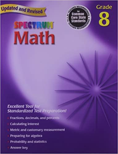 Amazon.com: Spectrum Math: Grade 8 Workbook (0087577913988 ...