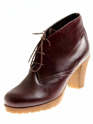 Shoes up Ladies Front Leather Isabelle Wine Shoes Pumps Lace Red High 6416 Classy Leather gWcRg1TXq