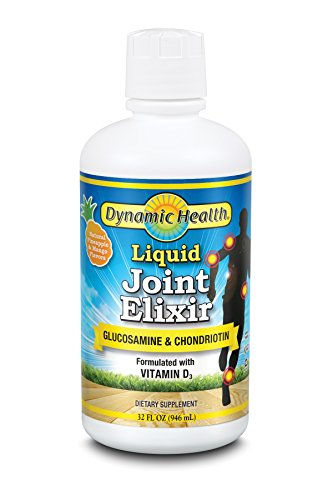 Dynamic Health  Dietary Supplement, Liquid Joint Elixir, Pineapple & Mango Flavors , 32 Ounces (Pack of 2)