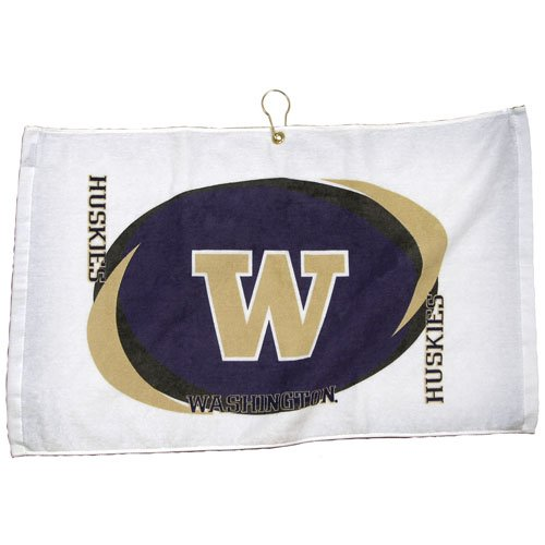 Team Effort Washington Huskies Printed Hemmed Towel - Washington Huskies One Size