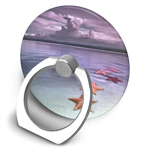 Cell Phone Finger Ring Holder Starfish Beach 360 Degree Rotating Stand Grip Mount Phone Bracket
