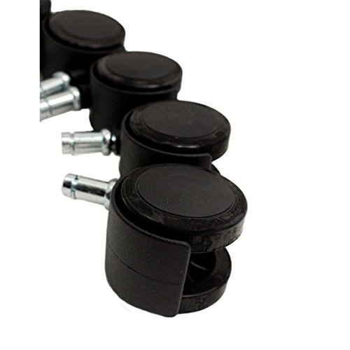 Chromcraft Polyurethane Soft Tread Replacement Casters - Softer Casters for Wood or Tile Floors (20) by Caster Chair Company (Image #1)