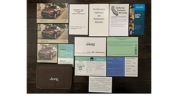 2017 Jeep Grand Cherokee Owners Manual Guide Book