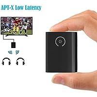 eranton APTX Low Latency 3.5mm/RCA Bluetooth V4.1 Audio Transmitter Pairing 2 Bluetooth Headphones Simultaneously for TV PC IPOD
