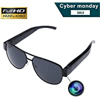 Sunglasses Camera, KAMRE Full HD 1080P Stylish Eyewear Camera Mini Video & Photo Recorder with UV Protection Polarized Lens