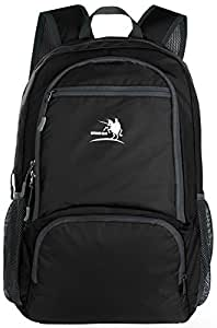 Free Knight 25L Packable Handy Lightweight Travel Backpack Daypack (New Black)