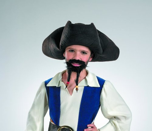 Jack Sparrow Beard Costume (Disguise Inc Pirates of the Caribbean Pirate Hat, Moustache, and Goatee (Child))