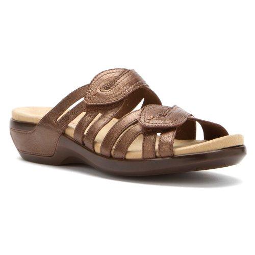 Aravon Women's Kendall Sandal,Bronze,8 W US