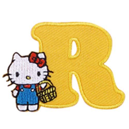 アルファベット ワッペン ハローキティ マイメロディ キャラクター サンリオ 刺繍 アイロン接着 アイロンワッペン 正規品 Hello Kitty キティちゃん hello kitty マイメロ My Melody イニシャル (R(ハローキティ))の商品画像