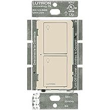 Lutron PD-5S-DV-LA Light Switch, Caseta 5A Lighting & 3A Fan RF On/Off - Light Almond