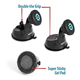 Car Mount, WizGear Universal Magnetic Car Mount Holder, Windshield Mount and Dashboard Mount Holder for Cell Phones with Fast Swift-snap Technology (Dashboard Mount)