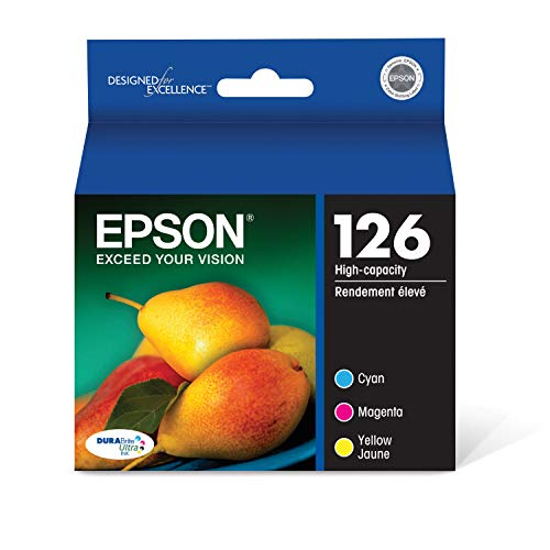 Epson T126520-S DURABrite Ultra Color Combo Pack High Capacity Cartridge Ink (Epson 3540 Printer Ink)