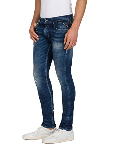 Replay 9 Homme Blue Jean Denim Skinny Jondrill dark Bleu pFpqr4