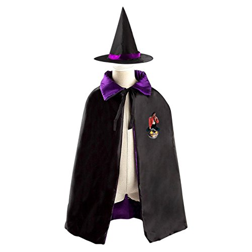 Michael_Jackson Halloween Costumes Witch Wizard Reversible Cloak With Hat Kids Boys (Michael Jackson Full Costume)