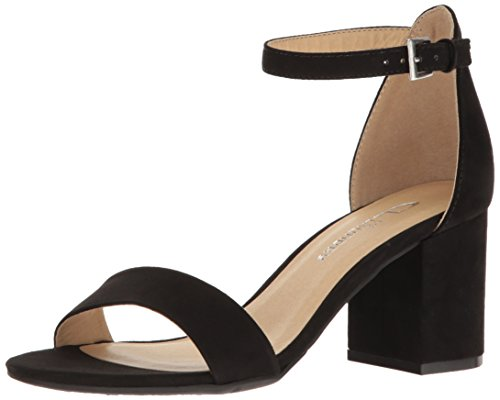 CL by Chinese Laundry Women's Jessie Block Heel Dress Sandal, Black Super Suede,  7 M US