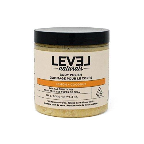 Level Naturals - Body Polish Lemon + Coconut - 8 oz.