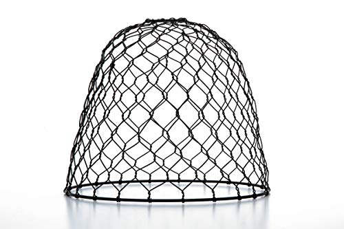 Cleveland Vintage Lighting 30397A Chicken Wire Shade, Metal, Dome, Black, 10 x 8.25 inches