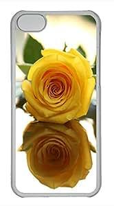 iPhone 5c case, Cute Yellow Rose iPhone 5c Cover, iPhone 5c Cases, Hard Clear iPhone 5c Covers
