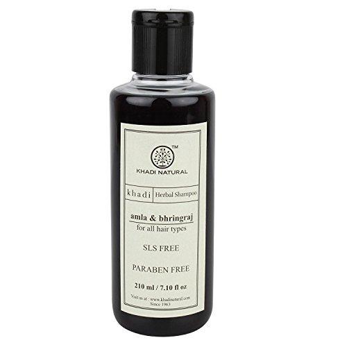 Khadi Herbal Amla & Bhringraj Shampoo- SLS & Paraben Free - 210ml Shipping Fast