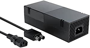 Xbox One Power Supply Brick (Quite Version) AC Adapter Cable Replacement Kit for Xbox 1 Console Games Auto Voltage 100-240V Black