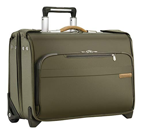 Briggs & Riley Baseline Carry-On Wheeled Garment Bag, Olive, Small