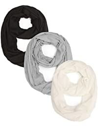 2 Or 3 Packs Soft Lightweight Infinity Scarf Or Oblong Scarf For Women