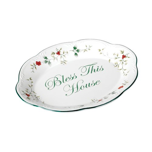 Pfaltzgraff Winterberry Bless This House Plate  - 5034281 (Dishes Serving Christmas)