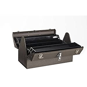 "Kennedy Manufacturing 1022B Hand-Carry Cantilever Steel/Metal Tool Box, 22"", Tan Brown Wrinkle"