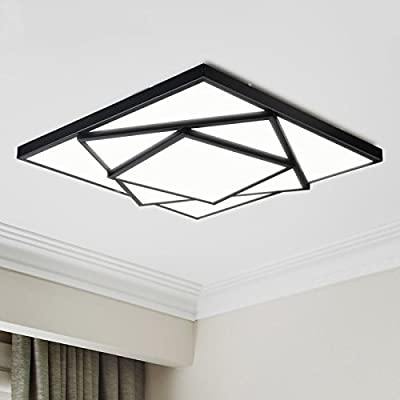 Electro_bp Modern Simple Metal Art Ceiling Light Geometric LED Flush Mount Light Max 24w with LED Lights Painted Finish
