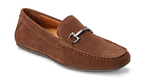 (Vionic Men's Mercer Mason Driving Moccasins - Suede Loafer for Men with Concealed Orthotic Support - Brown 8M)