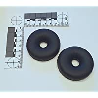 Compete Audio TLX80 Replacement Ear Pads for Telex Airman 850 Leatherette Ear Cushions (Replaces Part 800456-020)
