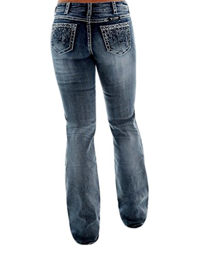 high-quality Cowgirl Tuff Western Denim Jeans Womens Crystal Waterfall Med  JCWATR 1a56ce51dd6
