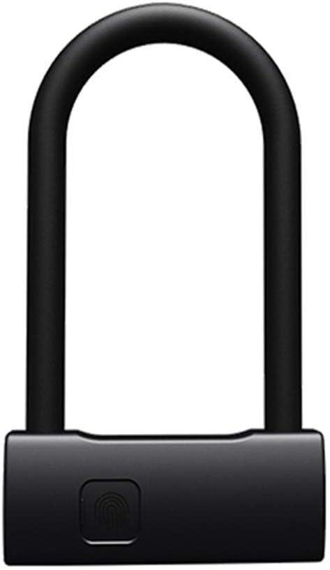 AOEIUV Huella Digital Inteligente Cerradura de Tipo U Puerta de Vidrio Cerradura pequeña Puerta corredera Coche Moto Bicicleta Candado Ventana Contraseña Impermeable: Amazon.es: Hogar