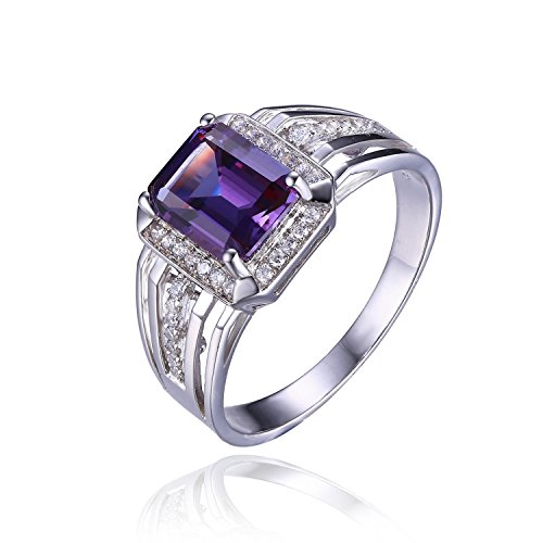 Men's Russian Design Created Alexandrite Sapphire Genuine 925 Sterling Silver Ring - Russian Alexandrite Ring