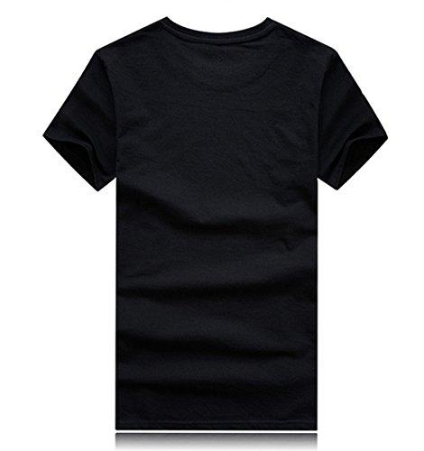 Alamor Plus Taille S-4Xl /Ét/é 3D Animal Pattern Printing Homme T-Shirt Personnalit/é Short T-Shirts-Noir-3XL