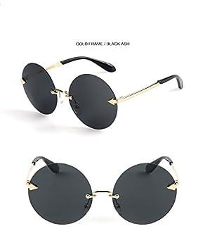 Nuevo niño gafas de sol de moda redondo sin marco niños ...