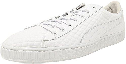 PUMA Men's Basketxmeek Bike Life White Athletic Shoe