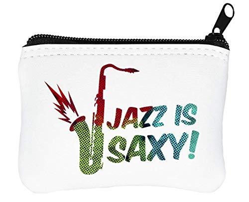 Is Funny Glissière Porte Portefeuille monnaie Artwork Jazz Saxy À 4z7q7f