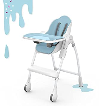 Beau Oribel Cocoon 3 Stage Easy Clean, Contemporary High Chair (Blue)