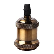 Light Socket, Splink E26/E27 Industrial Copper Lamp Socket Retro Vintage Edison Pendant Light Socket for DIY Pendant Light Ceiling Light