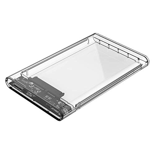 Ultima Cords   Cables 2.5 Inch Transparent SSD SATA Hard Disk External Portable Case USB 3.0 Transparent