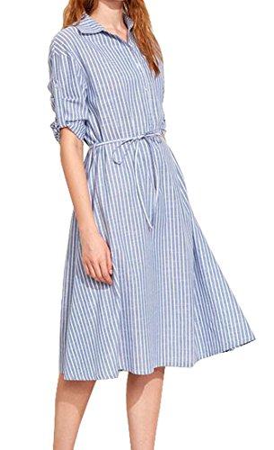 Buy belted midi summer dress - 9